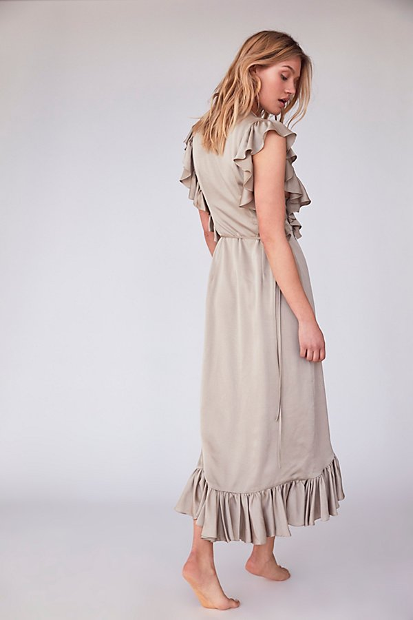 Slide View 3: Zephyr Ruffle Wrap Midi Dress