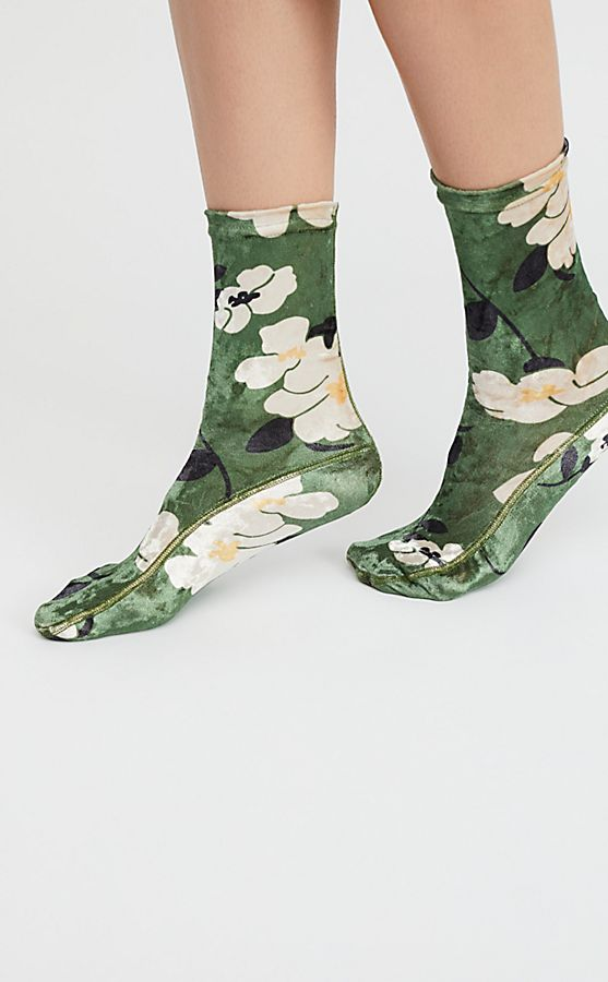 Floral Velvet Socks | Free People
