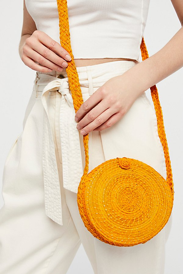 Slide View 1: Akumal Woven Circle Crossbody