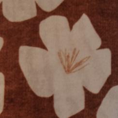 海胆色配芙蓉花