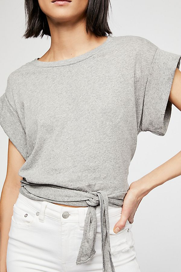 Cropped tee with tie waist detailing | Free People