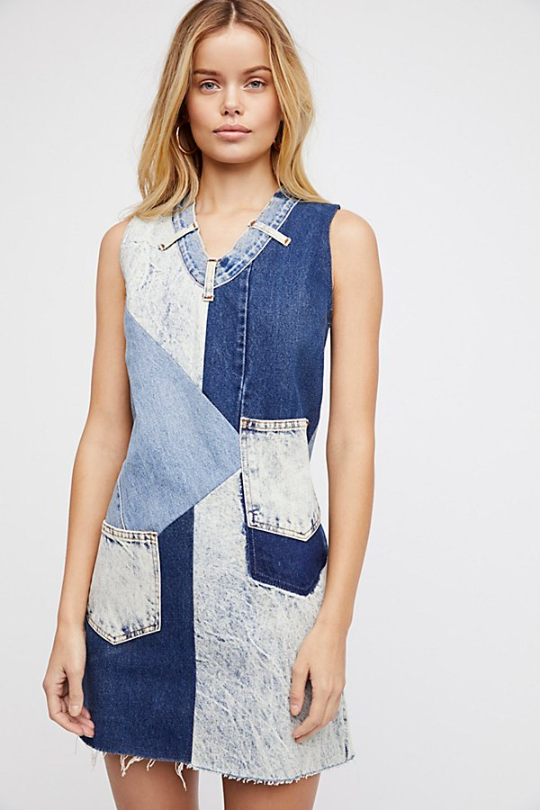 Slide View 2: Barber Constellation Denim Pinafore Dress