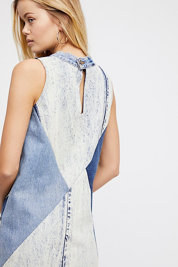 Slide View 3: Barber Constellation Denim Pinafore Dress
