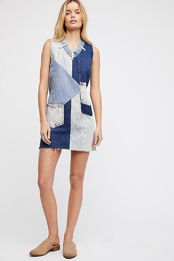 Slide View 1: Barber Constellation Denim Pinafore Dress