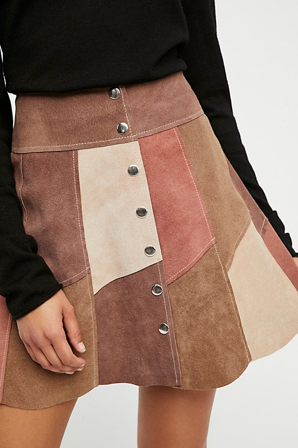 Slide View 3: Dylan Patchwork Mini Skirt