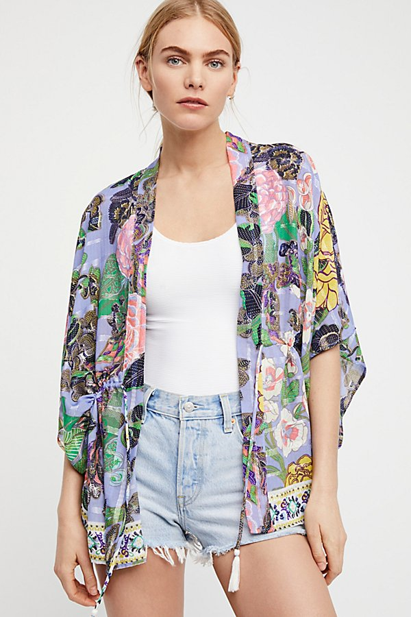 Slide View 4: Enchanted Blooms Printed Kimono