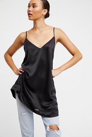 Silk slip maxi dress