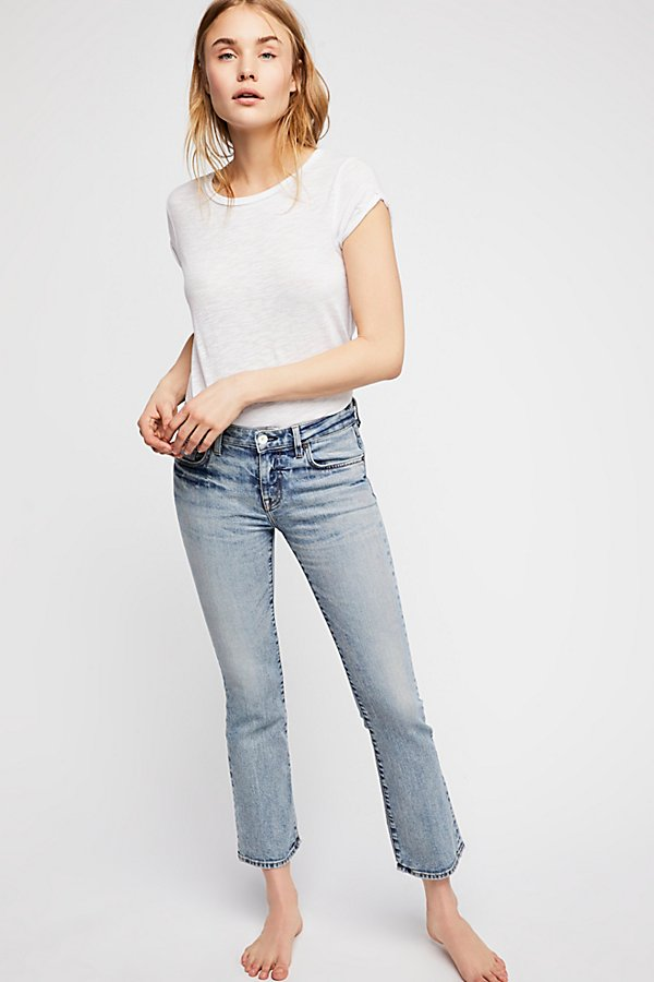 Slide View 4: Father's Daughter Jett Bootcut Crop Jeans