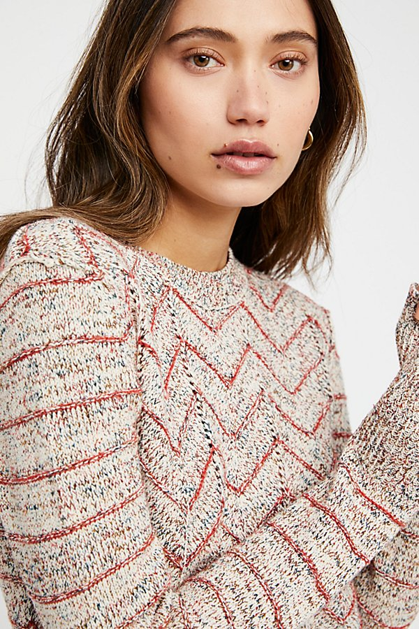 Slide View 3: Zig Zag Pullover Sweater