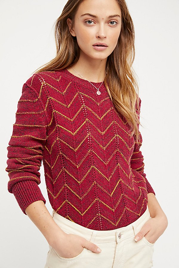 Slide View 1: Zig Zag Pullover Jumper