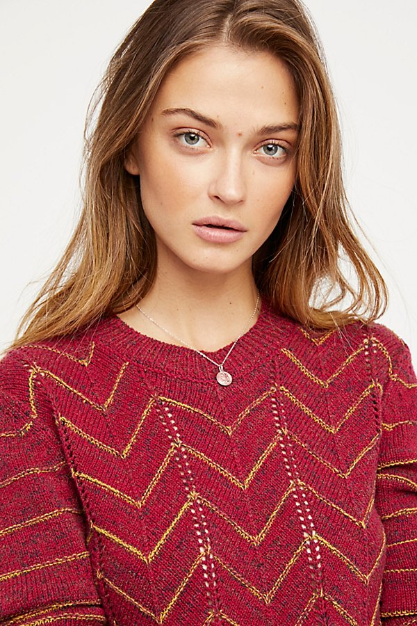 Slide View 3: Zig Zag Pullover Jumper