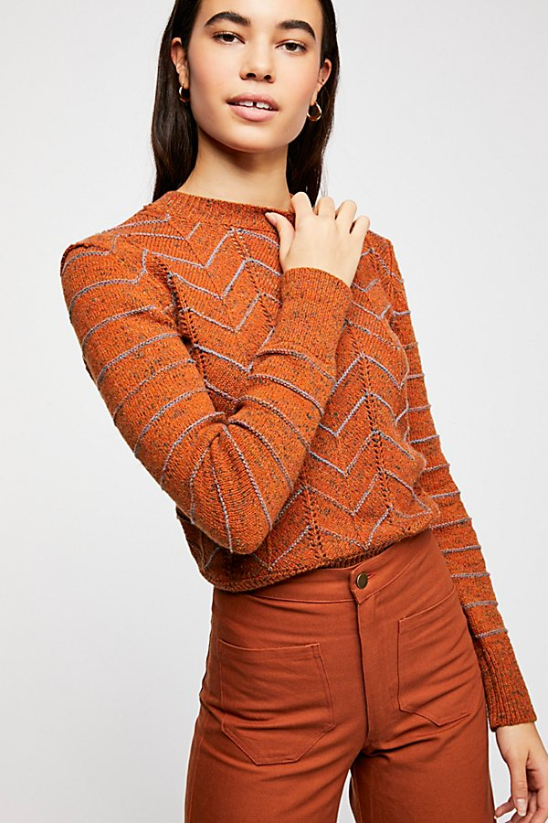 Slide View 2: Zig Zag Pullover Sweater