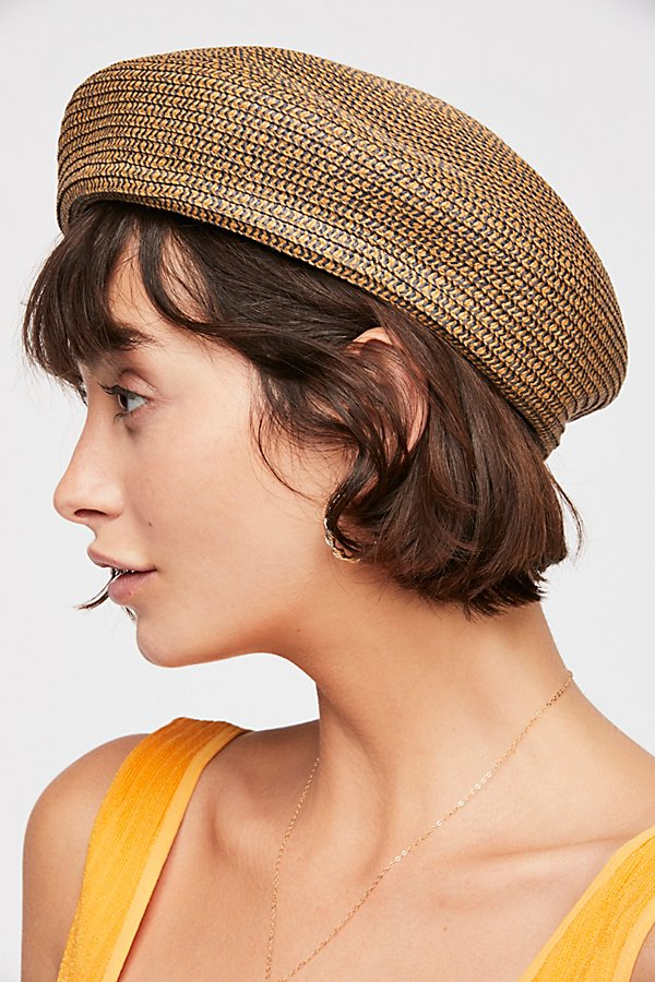 Slide View 3: Audrey Straw Beret