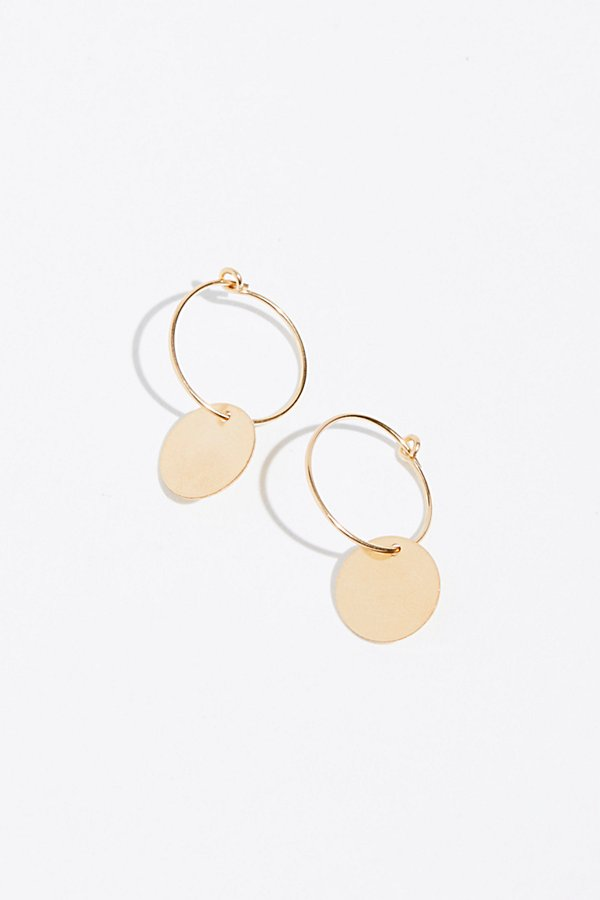 Slide View 1: 14k Vermeil Sleeper Hoop Earrings