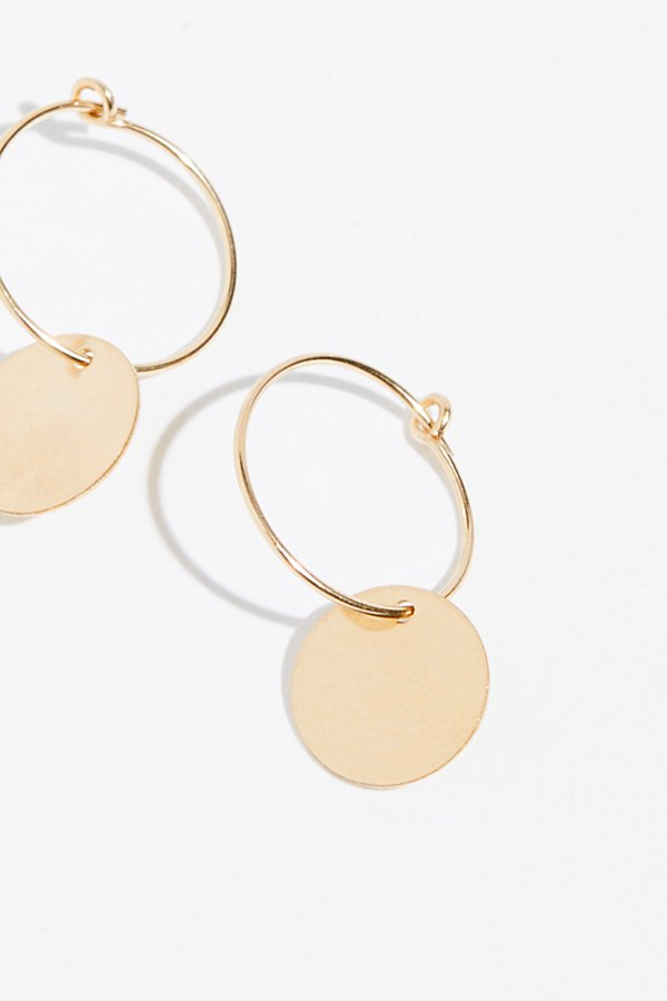 Slide View 2: 14k Vermeil Sleeper Hoop Earrings