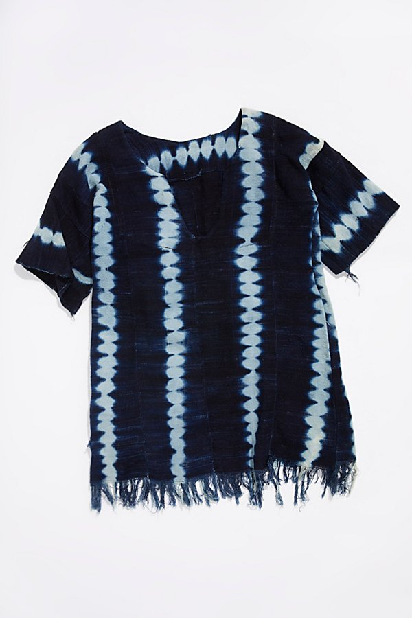Slide View 1: Vintage 1960s Indigo Dyed Tunic