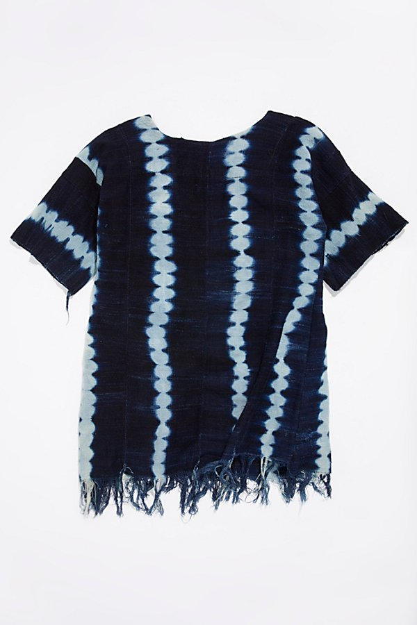 Slide View 3: Vintage 1960s Indigo Dyed Tunic