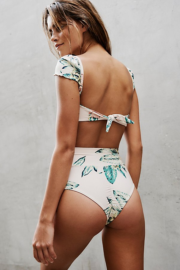 Slide View 2: High Rise Printed Bikini Bottom