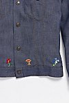 Thumbnail View 6: Vintage 1970s Hand Embroidered Denim Button Down