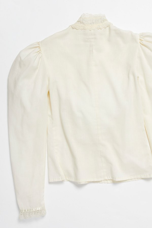 Slide View 5: Vintage 1970s Puff Sleeve Blouse
