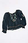Thumbnail View 1: Vintage 1940s Embroidered Peasant Top
