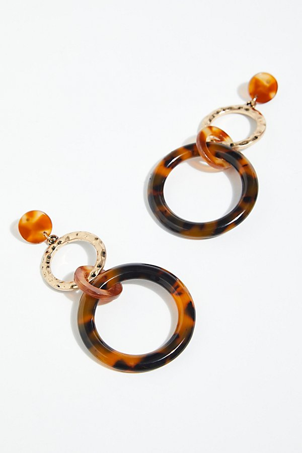 Slide View 2: Hazel Resin Hoop Earrings