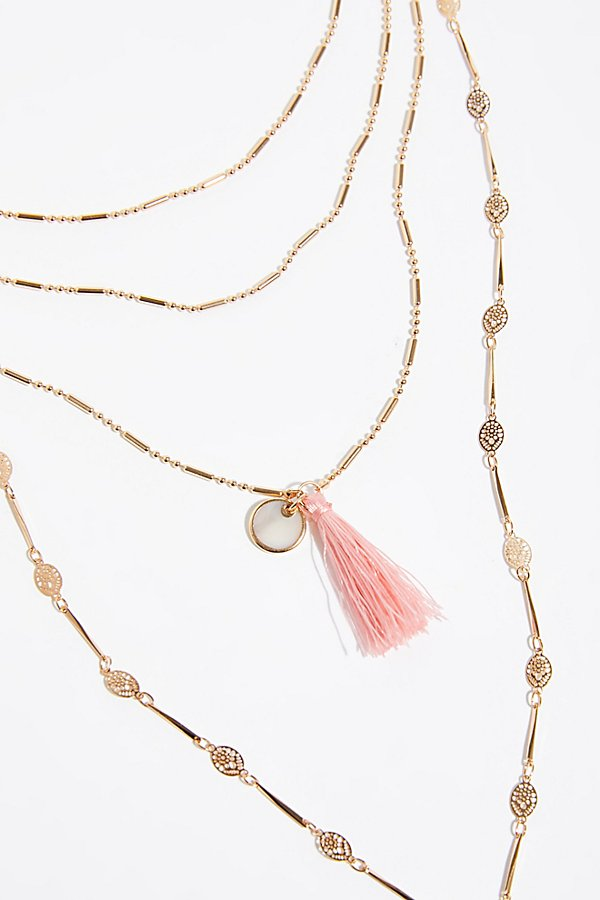 Slide View 3: Tiny Tassel Necklace
