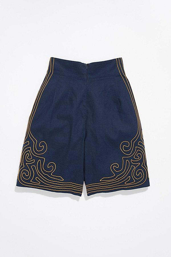 Slide View 3: Vintage 1940s Embroidered Shorts