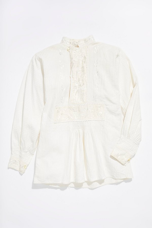 Slide View 1: Vintage 1960s Embroidered Blouse