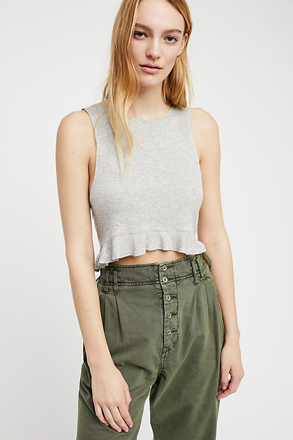 Slide View 2: Ruffle Rib Crop Top