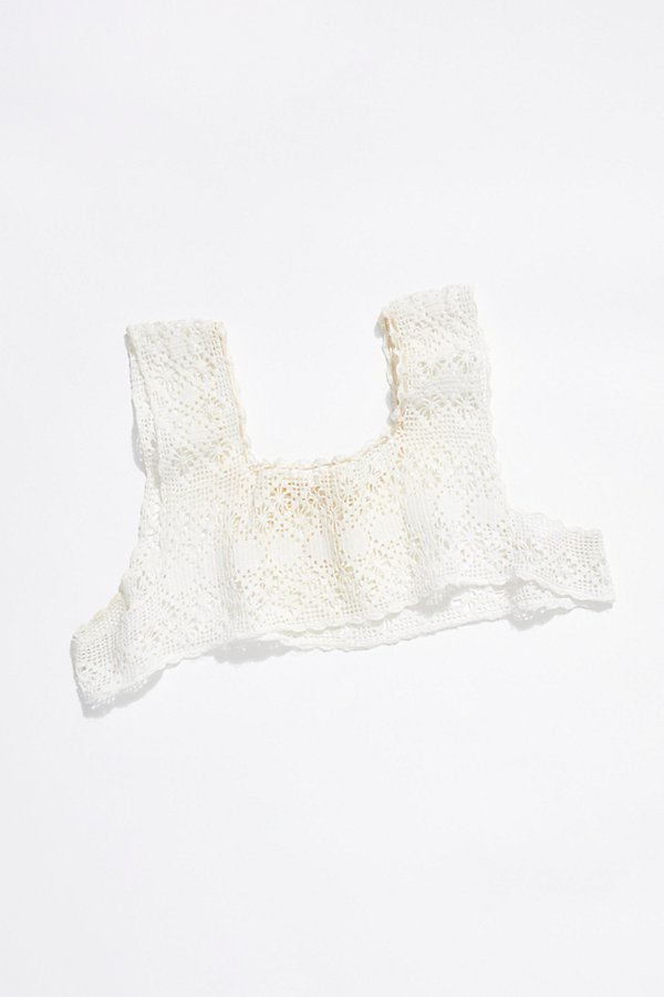 Slide View 3: Vintage 1910s Crochet Lace Top