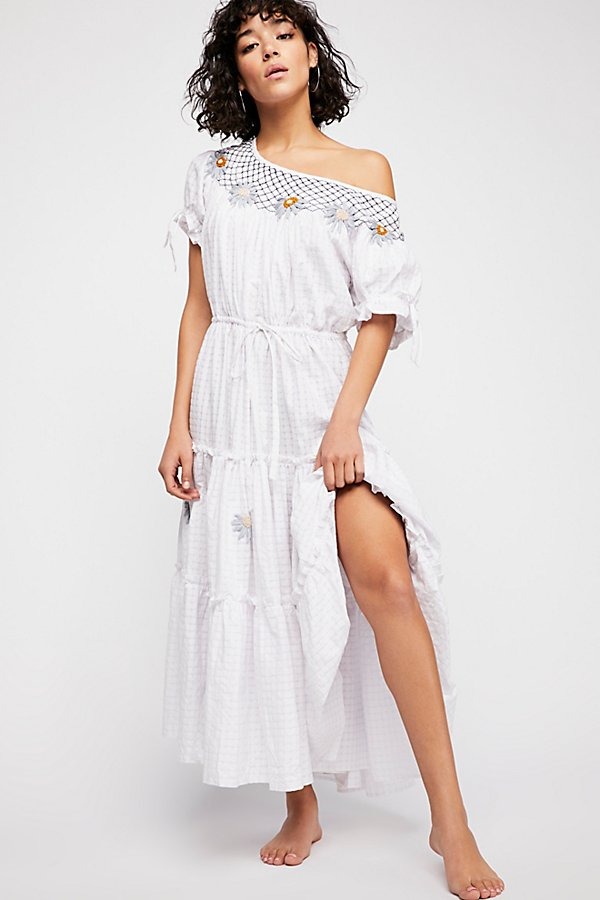 Slide View 1: Daisy Smock Collar Maxi Dress