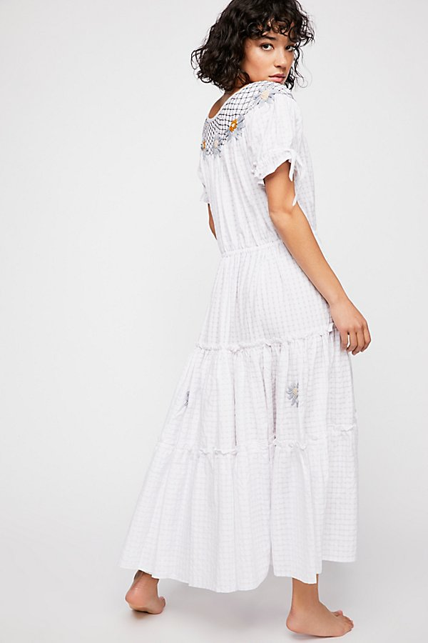 Slide View 2: Daisy Smock Collar Maxi Dress