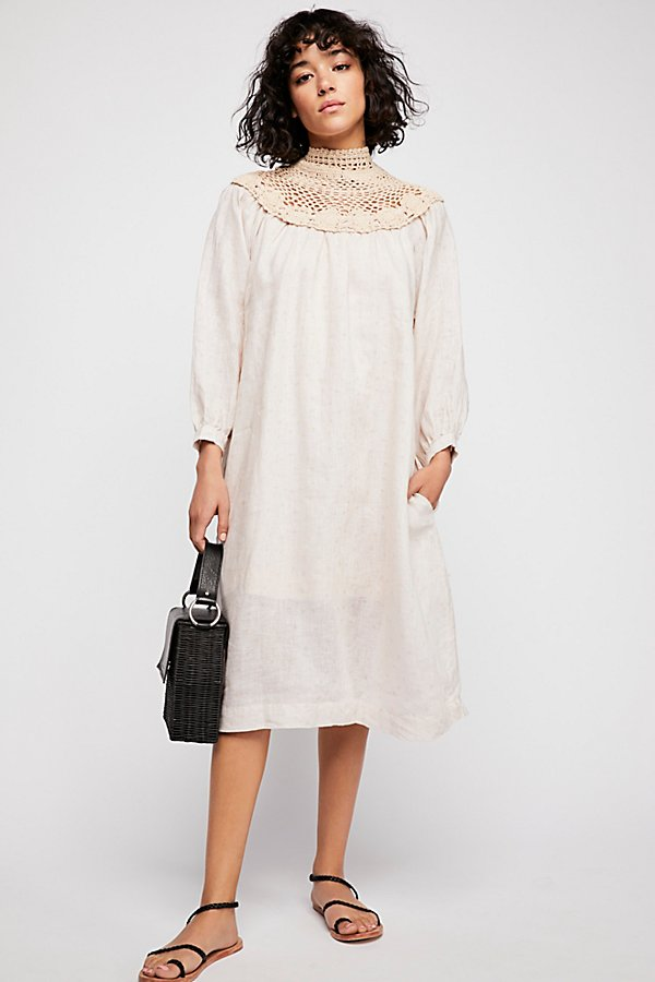 Slide View 1: Crochet Collar Dress