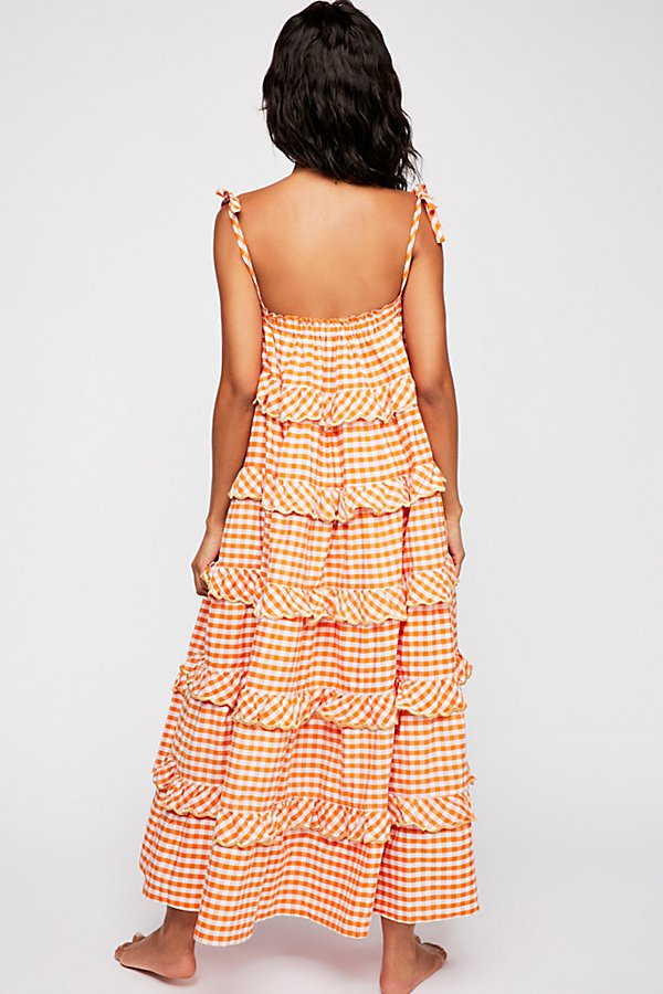 Slide View 2: Gingham Frill Maxi Dress