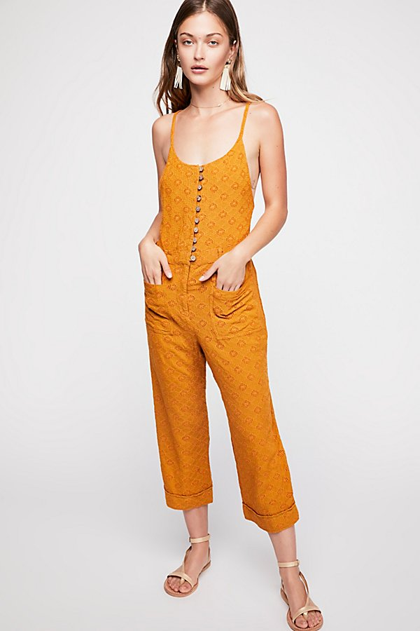 Slide View 1: Honeycomb Jumpsuit