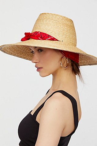 Slide View 1: Woodstock Bandana Straw Hat