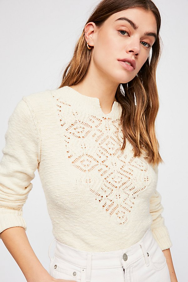 Slide View 1: Frosted Lace Sweater