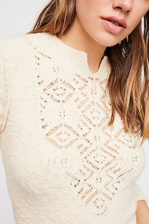 Slide View 3: Frosted Lace Sweater
