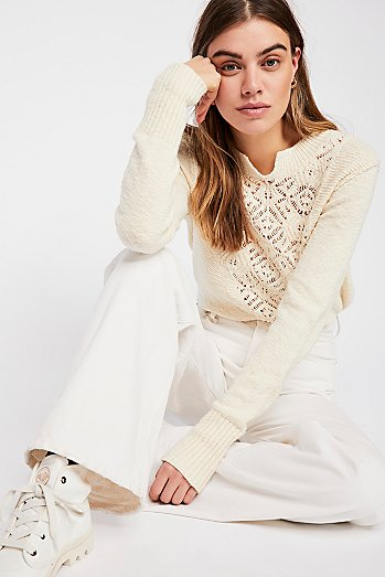 Frosted Lace Sweater