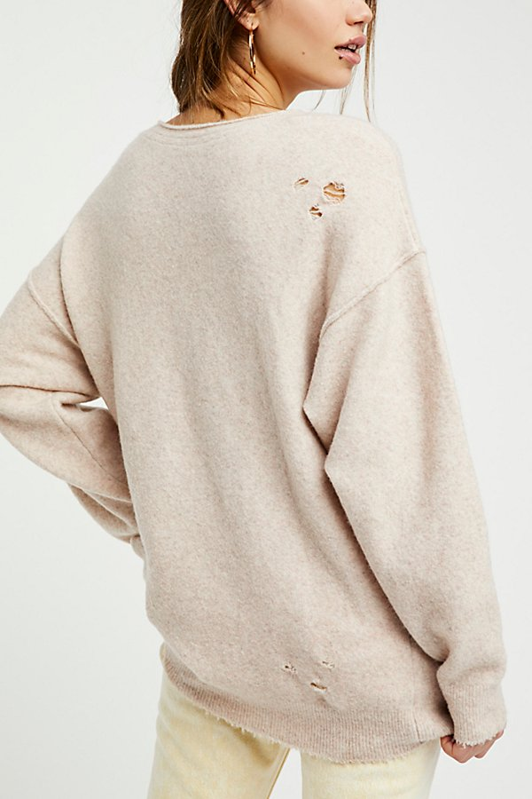 Slide View 4: Ripped And Torn Cashmere Pullover