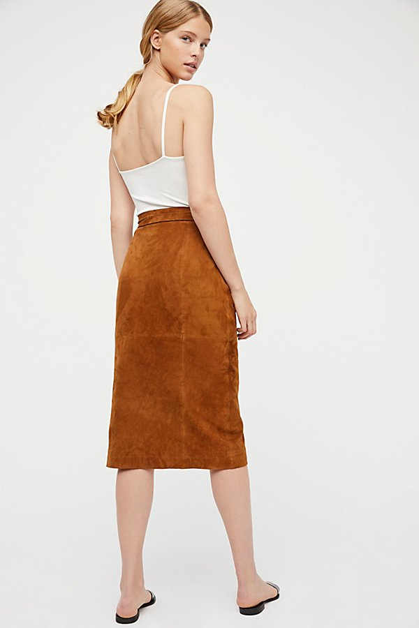 Slide View 2: Suede Wrap Skirt
