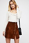 Thumbnail View 1: Understated Suede Mini Skirt