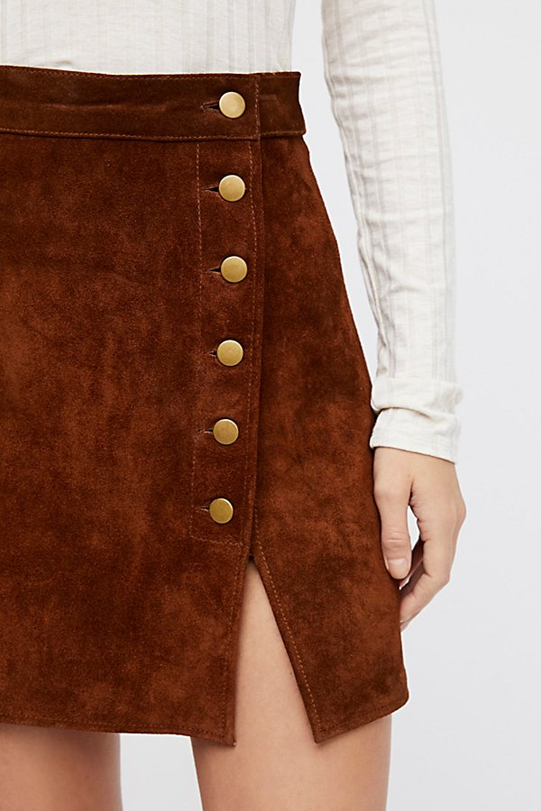 Slide View 4: Understated Suede Mini Skirt