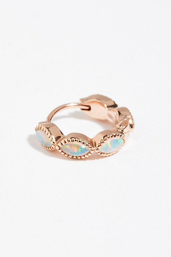 Slide View 1: Opal Marquise Clicker Hoop Earring