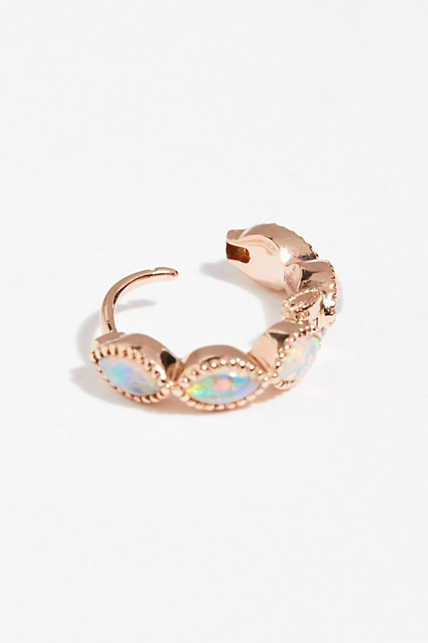 Slide View 2: Opal Marquise Clicker Hoop Earring