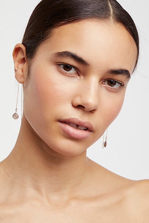Slide View 1: Teardrop Threader Earrings