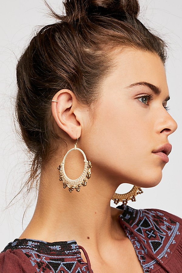 Slide View 1: Serefina Macramé Hoop Earrings