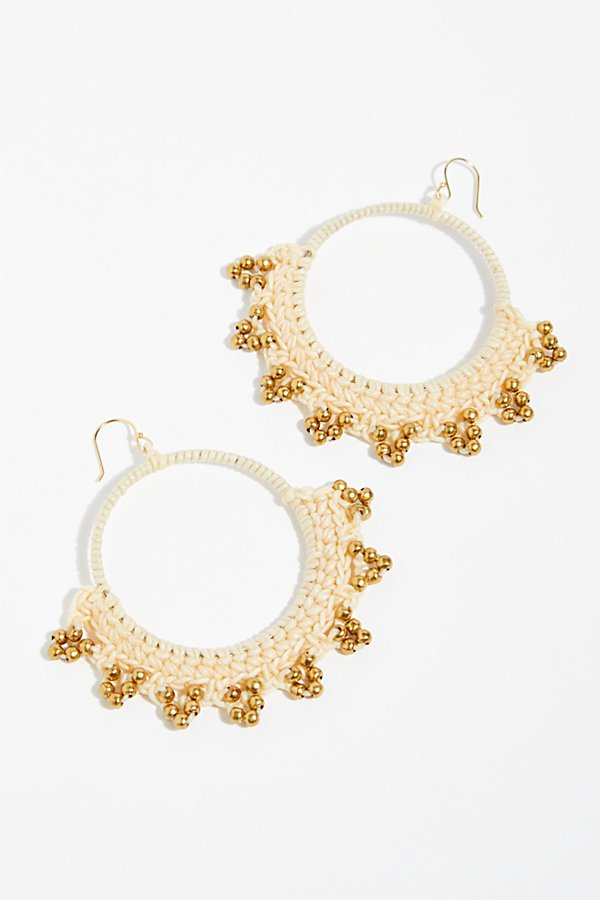 Slide View 2: Serefina Macramé Hoop Earrings