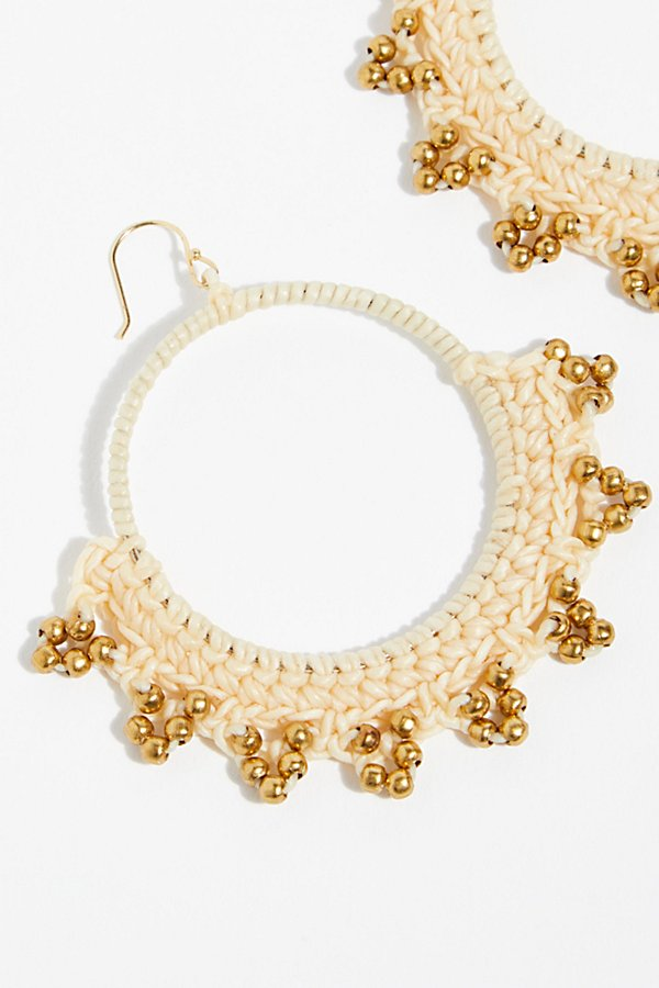Slide View 3: Serefina Macramé Hoop Earrings